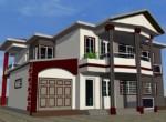 Plan d'architecture d'une villa moderne